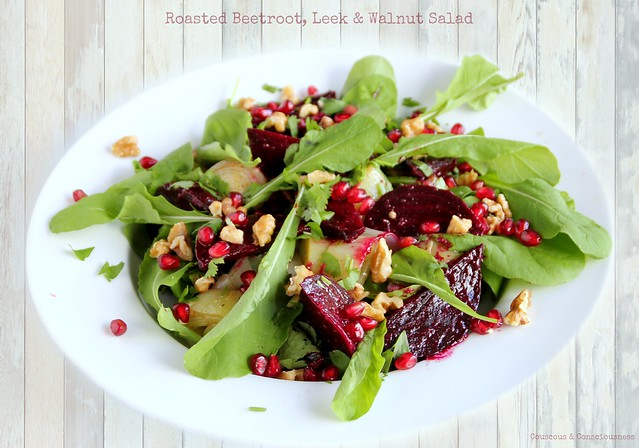 Roasted Beetroot, Leek & Walnut Salad 1