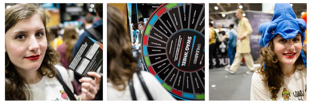 Lauren and the Nintendo swag wheel