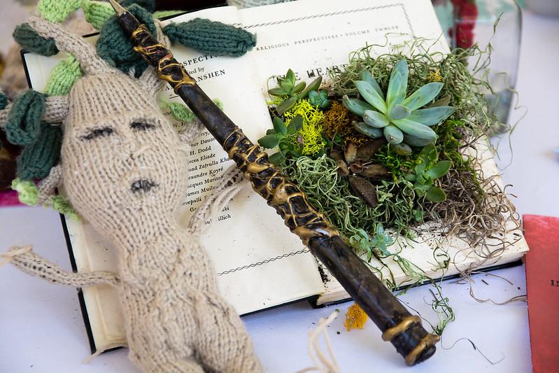 Mandrake wand and centerpiece