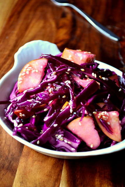 Winter Red Cabbage Slaw