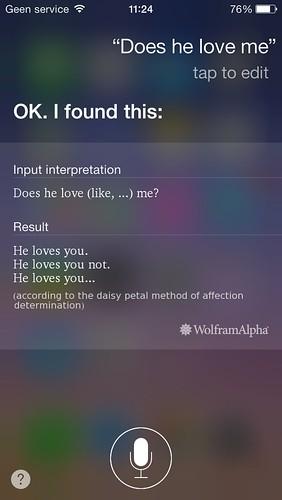 Eerste chat met Siri