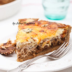 Pear, Ham, and Walnuts Quiche