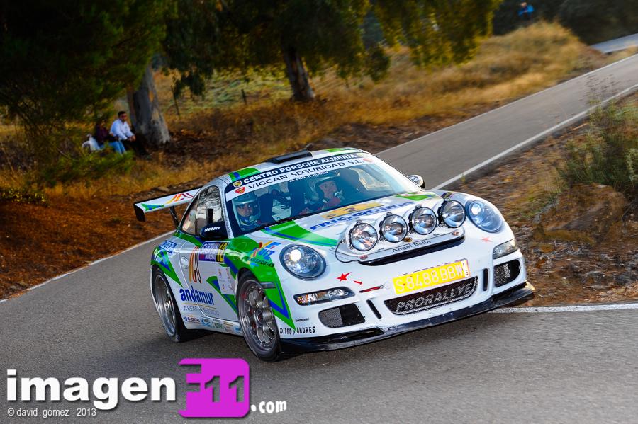Jose Antoni Aznar, Crisanto Galán, Porsche 997, Rallye sierra Morena 2013