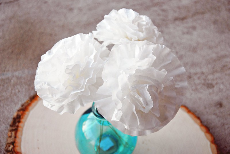 DIY coffee filter peonies