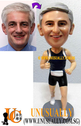 Unusually Personalized 3D Running Man Figurine - @www.unusually.com.sg