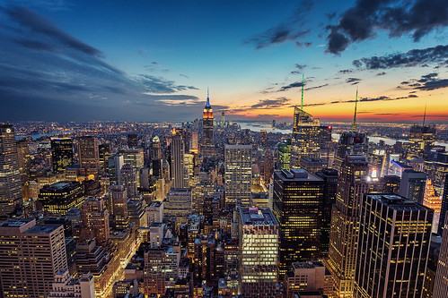 Top of the Rock after sunset - NYC