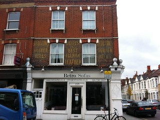 Ghost sign in Munster Road, London SW6