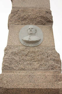 Sheehan on Fort Ridgely monument