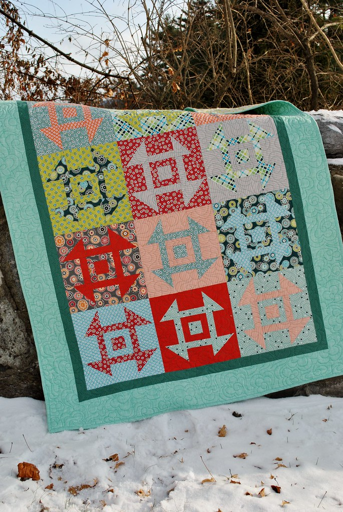 Modern Churn Dash Quilt Pattern by Sweet Jane