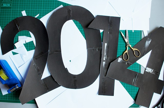DIY NYE Confetti Decor