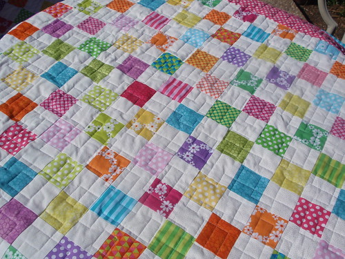 Happy Happy Postage Stamp Quilt