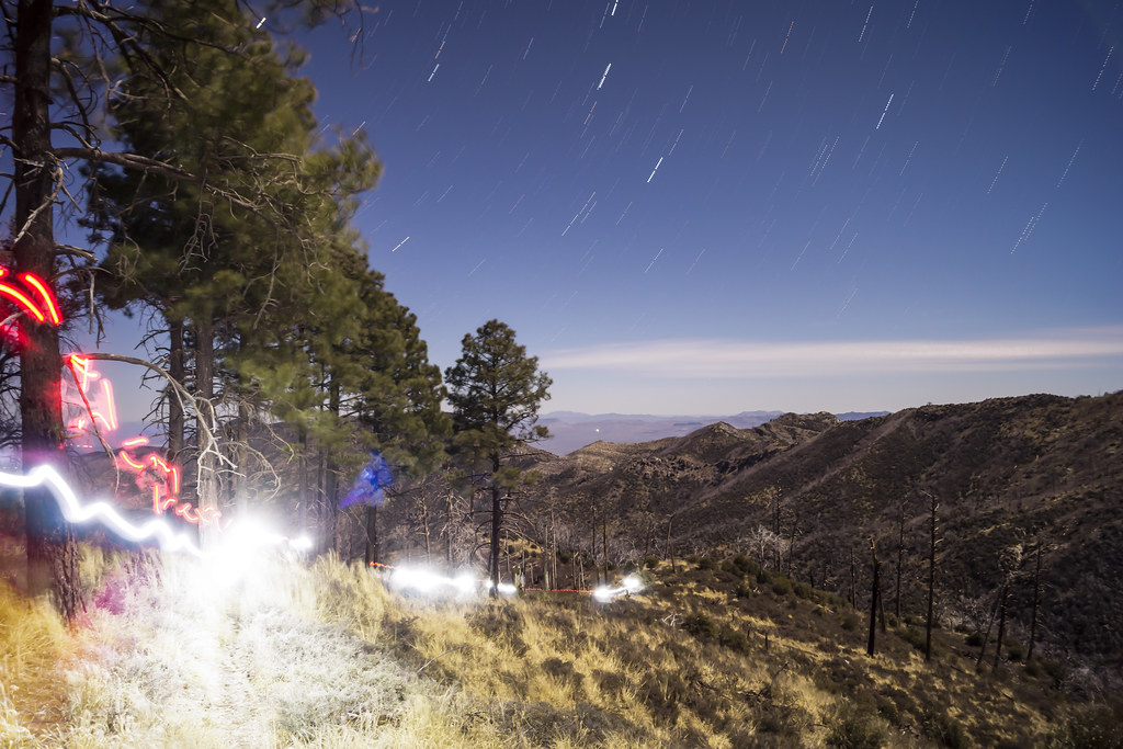 1401 Headlamp along the Red Ridge Trail