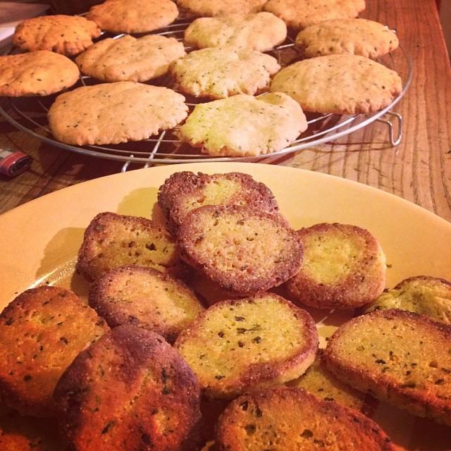sablés patate douce et coriandre