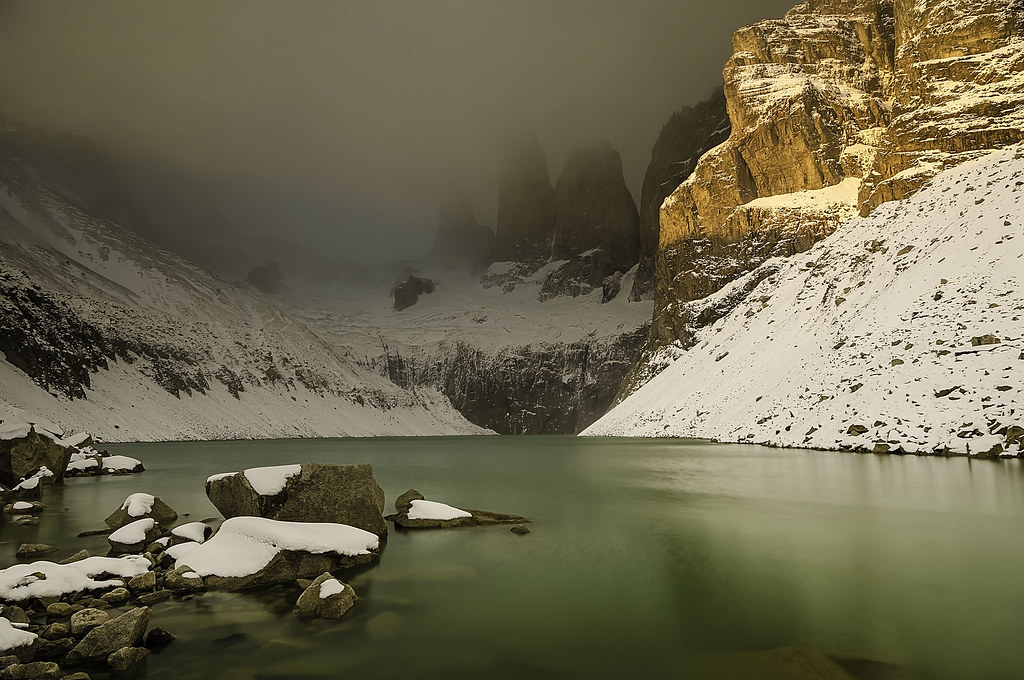Misty Torres del Paine, Patagonia, Chile
