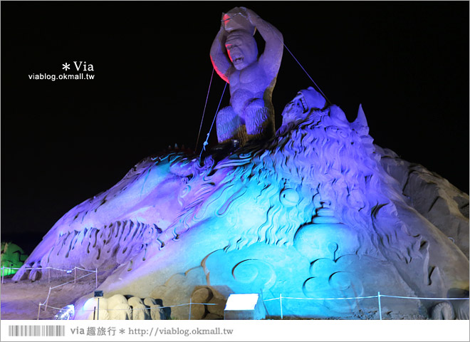 【2014台灣燈會在南投】南投沙雕燈會~夜間點燈好浪漫!還有精彩光雕秀25
