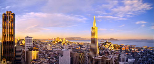 sanfrancisco california morning light panorama color sunrise nikon downtown cityscape financialdistrict goldengatebridge bayarea alcatraz marinheadlands transamericapyramid mttamalpais hawkhill singhray coottower