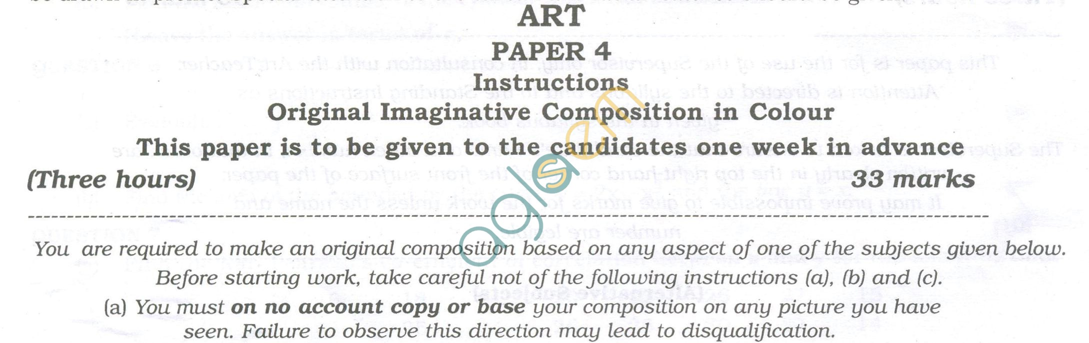 ISC Question Papers 2013 for Class 12 - Arts Paper IV