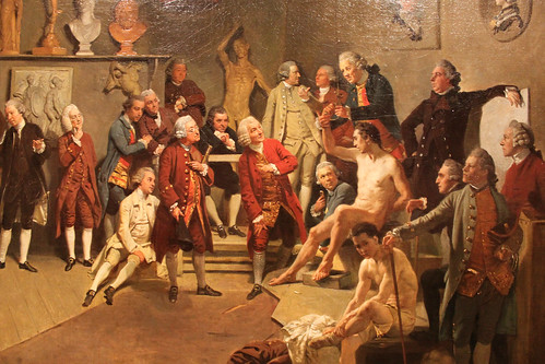 The Academicians of the Royal Academy  by Johann Zoffany - Detail