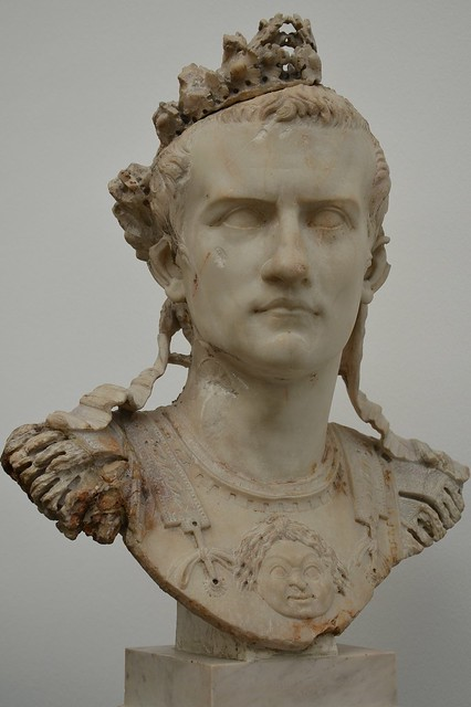 Cuirassed bust of Caligula, found in Rome, AD 37-41, Ny Carlsberg Glyptotek, Copenhagen