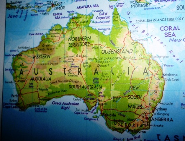Map of Australia from Flickr via Wylio