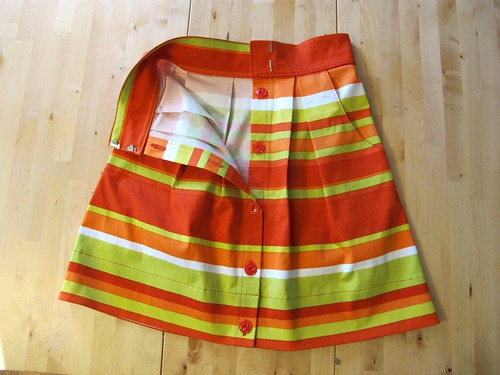 Kelly skirt, made with Mood Fabrics