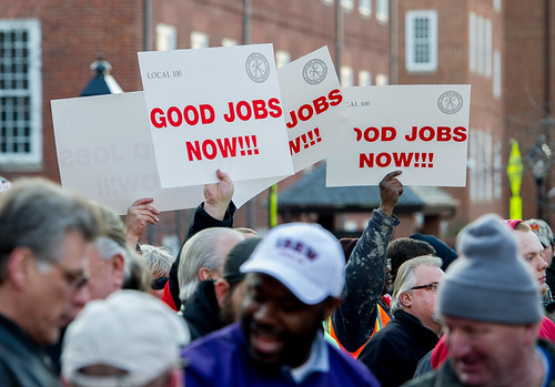 Baltimore Council AFL CIO and MD State DC Building Trades Rally