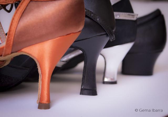 Zapatos de baile tipos de tacones