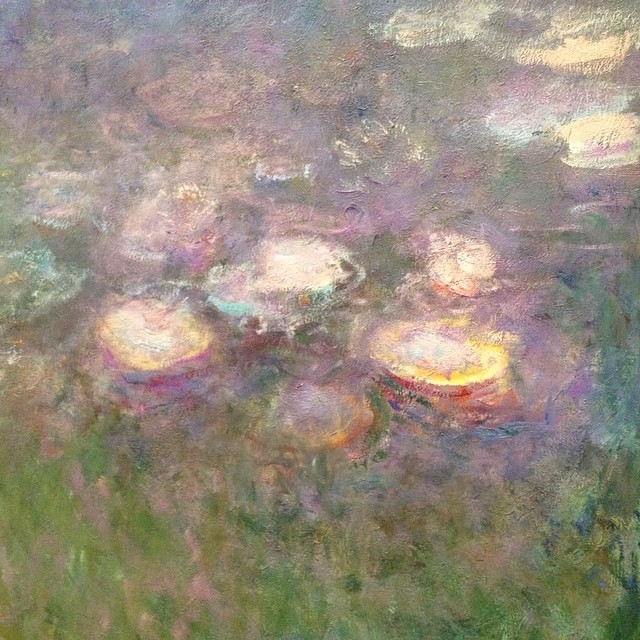 More in scenes from the St. Louis Art Museum: another part of Monet's Water Lilies, painted between 1915-1926.