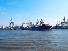 Cargo Ship Norderoog in Hamburg, Germany