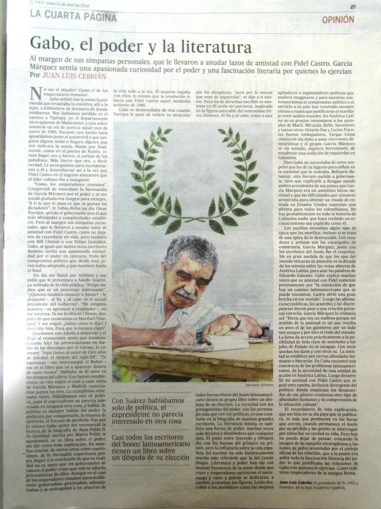 Cebrián, Gabo, y el poder