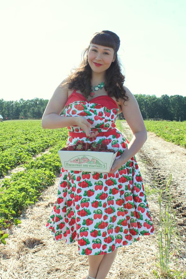 strawberry dress vintage
