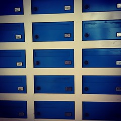 line, azure, locker, blue,