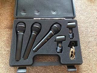 Behringer XM1800 microphones