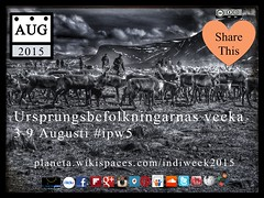 Swedish: Ursprungsbefolkningarnas vecka (Indigenous Peoples Week) #ipw5 @nuttisamisiida