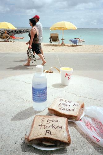 ビーチで昼食 / Lunch at the beach