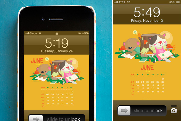 June 2013 Desktop/iPhone/Samsung Galaxy lock screen wallpaper