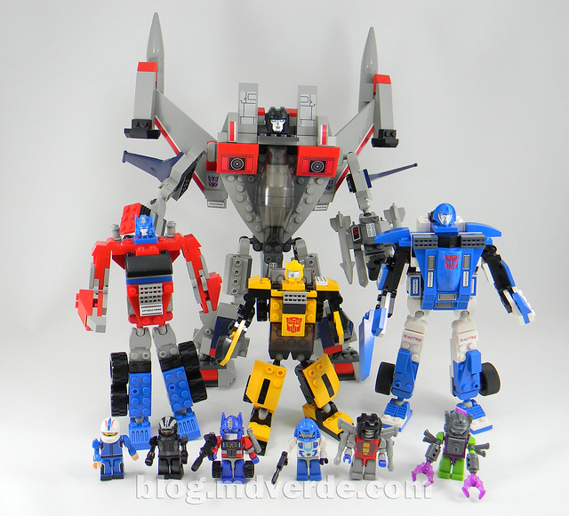 Transformers Mirage Kre-O - modo robot vs otros Kre-O