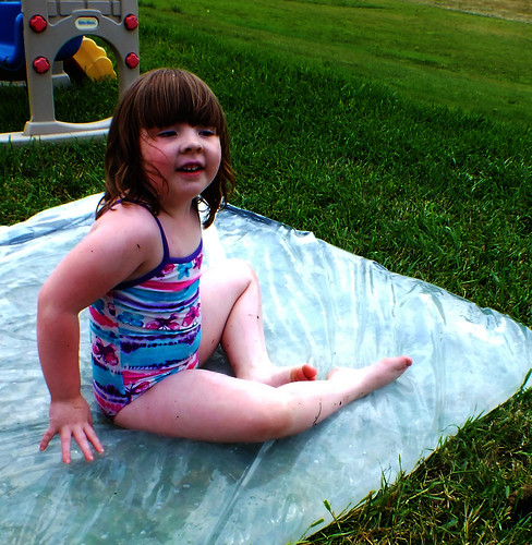 "Lucy on the ""Redneck Waterbed"""