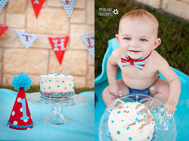 Waco Texas Photographer Megan Kunz Photography J Cake Smash Duoblog