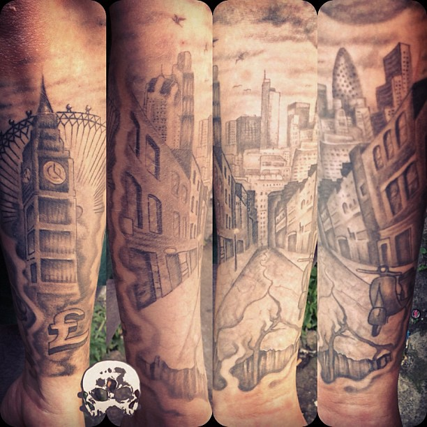 heal london sleeve update london skyline tattoo mrgarbatyaniol thetattookartel ink tats. Black Bedroom Furniture Sets. Home Design Ideas