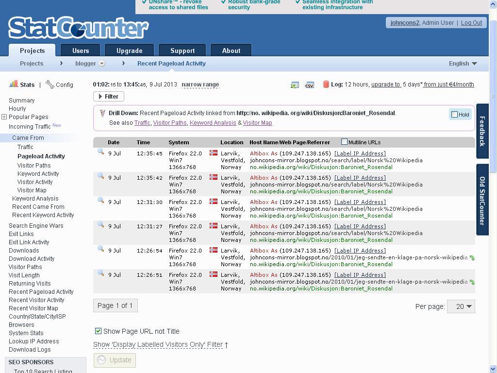 statcounter wiki linker