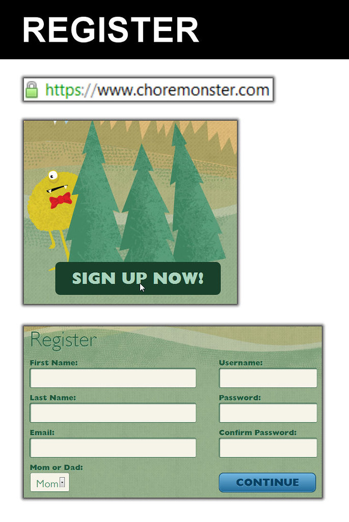 Register for ChoreMonster