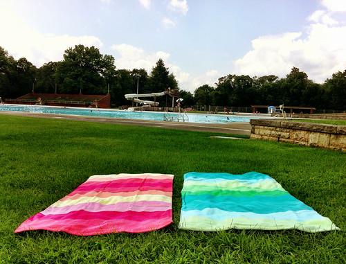 Pool side.