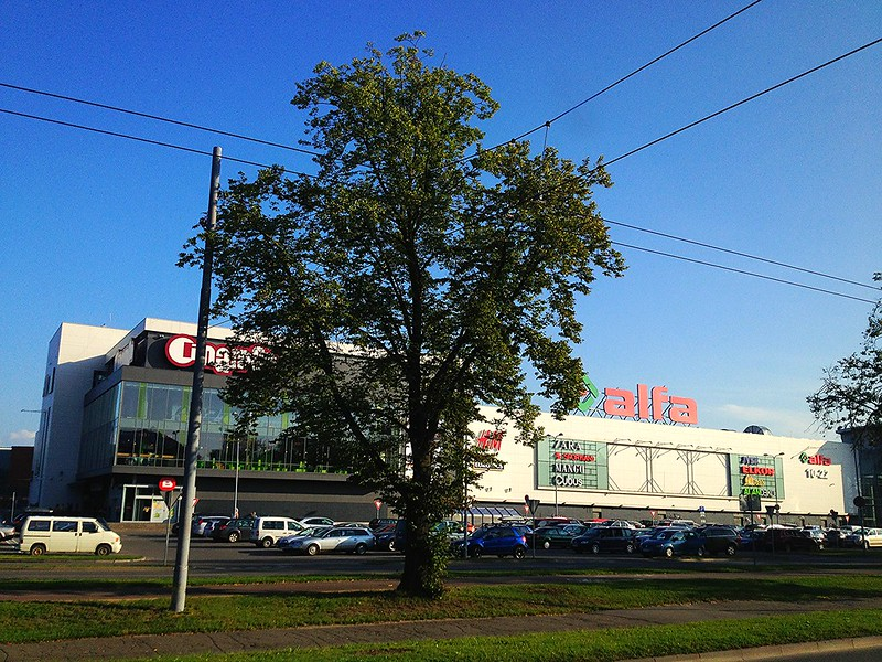 alfa is one of the largest shopping centers in Riga. by aigarsbruvelis