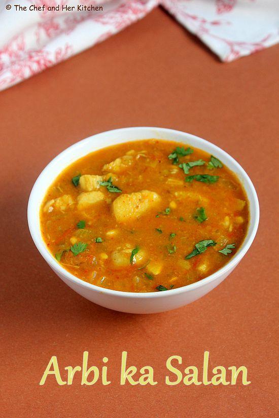 Arbi Ka Salan | Arbi Masala Gravy | Taro Root Sabzi