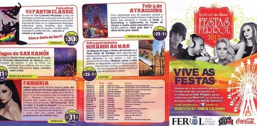 Ferrol 2013 - Festas do Verán - programa I