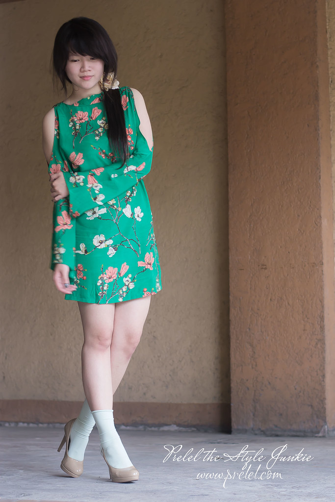 green sakura dress