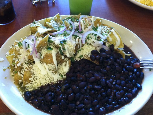 Chilaquiles & black beans