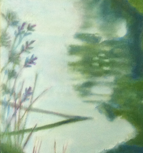 Detail of Reflections (Oil Bar Painting FInished Aug. 25, 2013) by randubnick