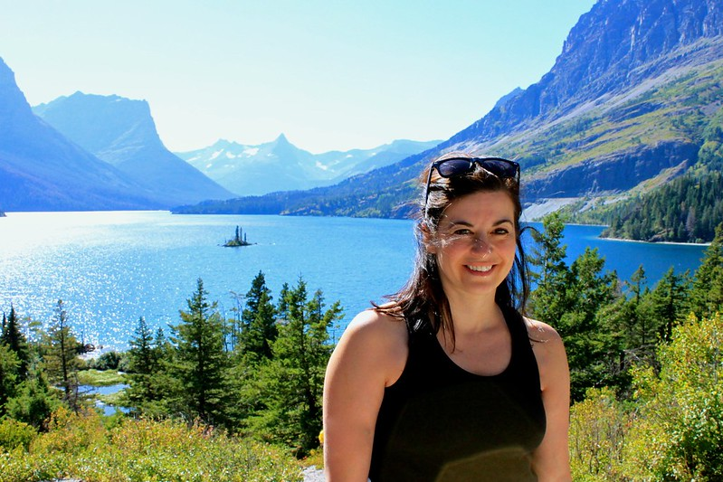 Leyla at Glacier Park
